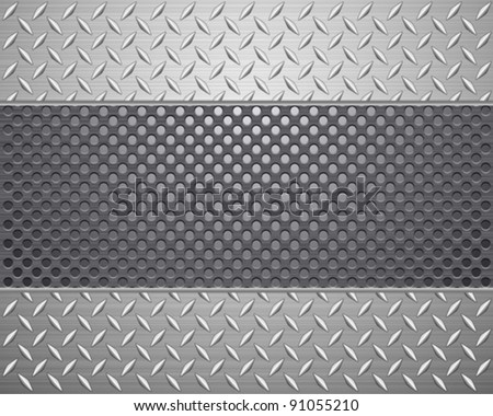 Pattern of metal texture background.Vector illustration. - stock vector