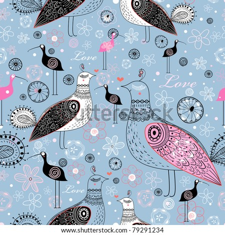 pattern of ornamental birds