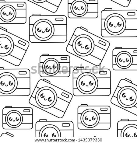 pattern of photographic cameras kawaii