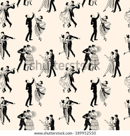 pattern of the vintage dancing...