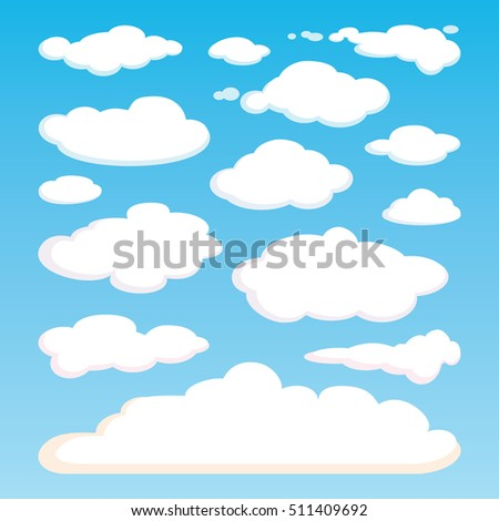 pattern of white clouds