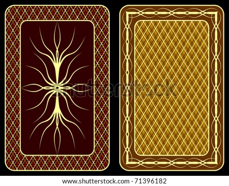 Pattern on an underside of playing cards.
