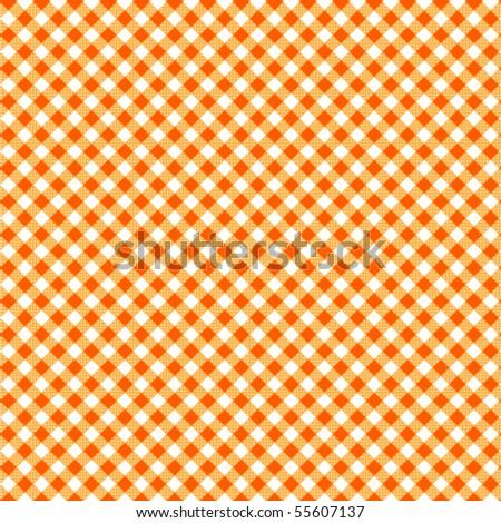 Pattern picnic orange vector