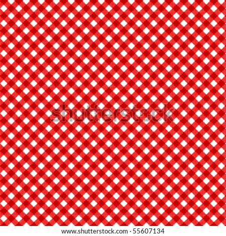 Pattern picnic red vector