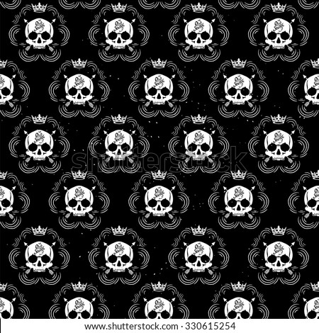 pattern pirate skull wallpaper