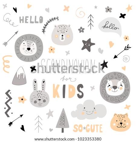 pattern scandinavian kids