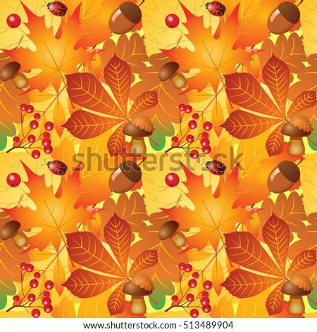 pattern seamless autumn vector