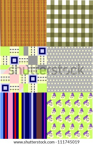 Pattern seamless backgrounds for printing onto fabric and paper or scrap booking