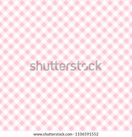 Pattern seamless checkered chevron with pink tone. Design geometric stripe for background image or fashion minimalist design, fabric, textile, wallpaper, gift wrapping paper etc. Abstract vector.