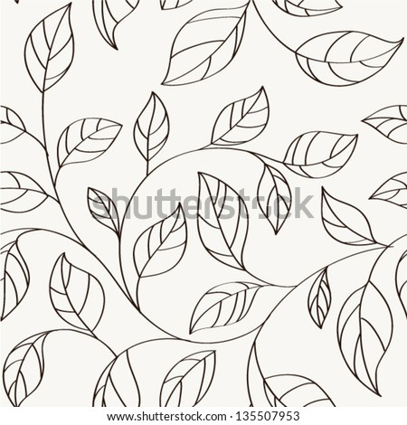 Pattern seamless leaves