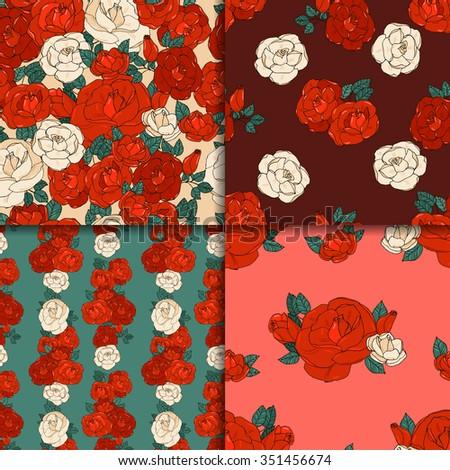 pattern set made of garden...