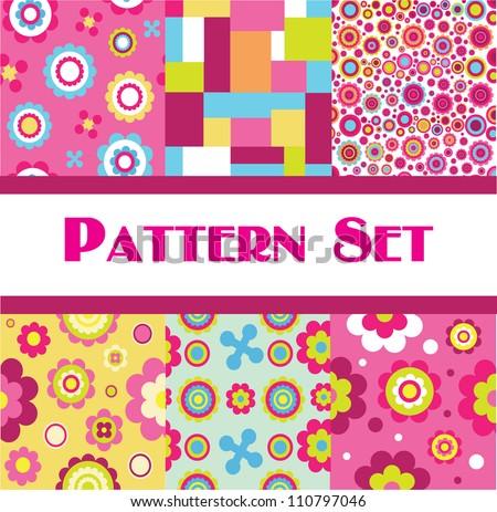 pattern set. vector illustration