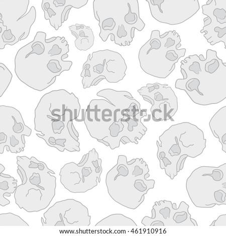 pattern skull white death head