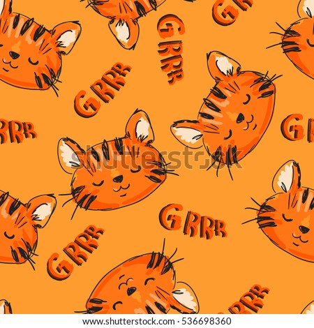 pattern tiger  cute baby tiger