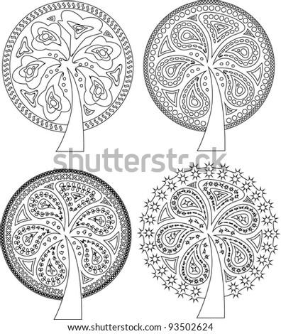 Pattern tree outline set