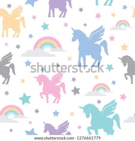 pattern 13 unicorns with