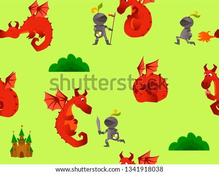 pattern with a dragon