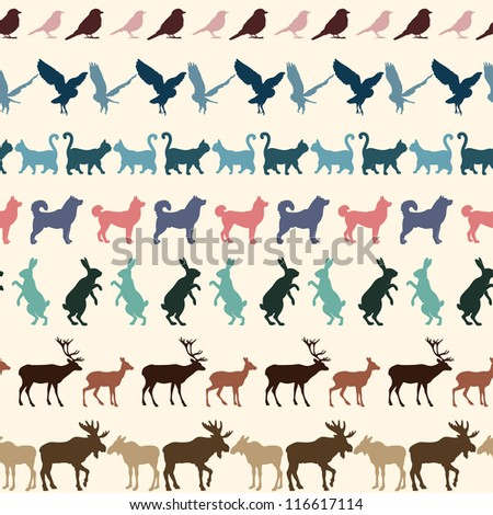 Pattern with animals.
