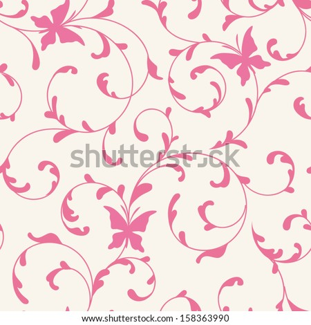 Pattern with butterflies seamless