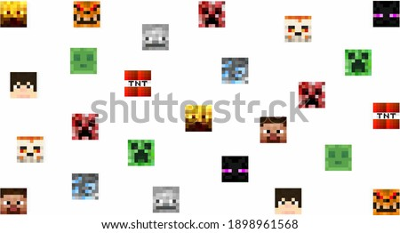 pattern with colored pixel