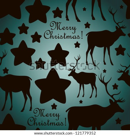 Pattern with deers Seamless christmas background