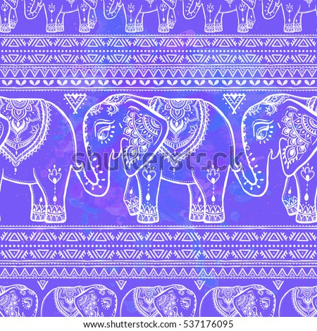pattern with elephant and