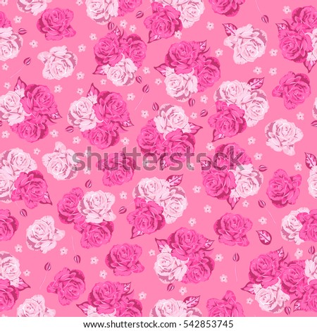 pattern with gentle blooming