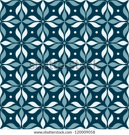Pattern with geometric flowers.