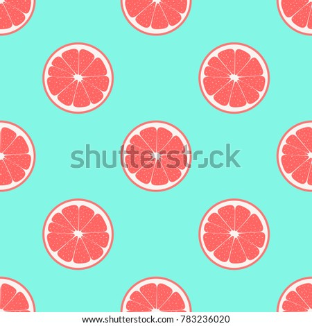 pattern with grapefruit on a