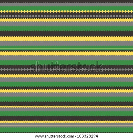 Pattern with green colorful zig zag