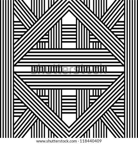 Pattern with line black