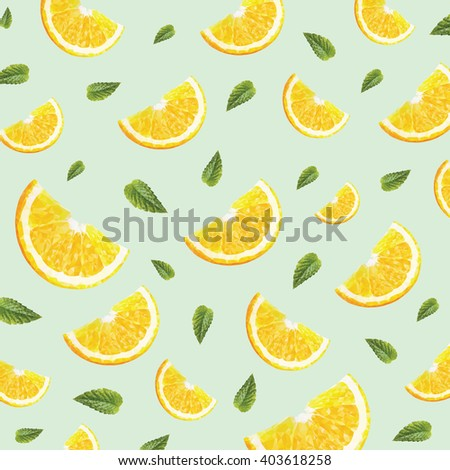 pattern with oranges or lemons