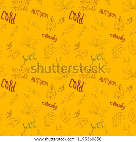 pattern with outline of leaves