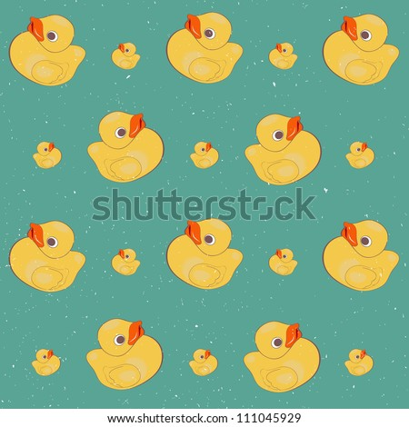 pattern with rubber duck