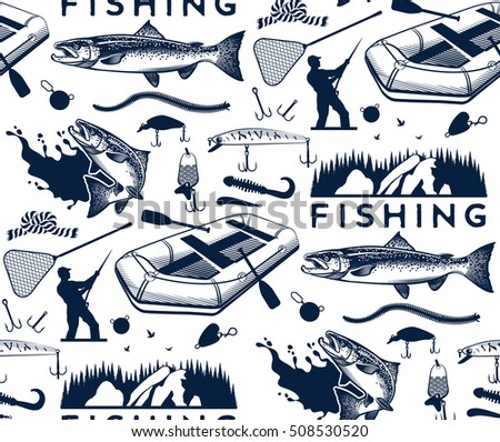 pattern with salmon fishing