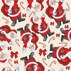 pattern with Santa and candy