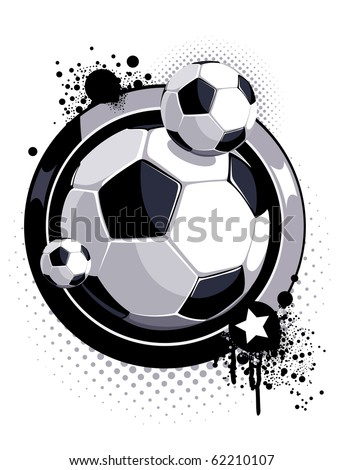 pattern with soccer ball