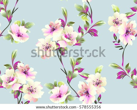 stock-vector-pattern-with-spring-flowers-on-grey-background