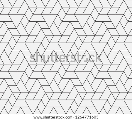 Pattern with thin straight lines and geometric shapes. Abstract linear stylish texture. Monochrome modern background. Linear graphic illustration.