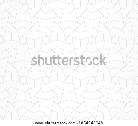 Pattern with thin straight thin lines, and polygons on white background. Fashion Abstract geometric texture. Seamless linear Stylish design. Vector design for swatches, textile, fabric, wrapping.