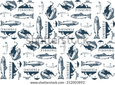 pattern with trout fishing