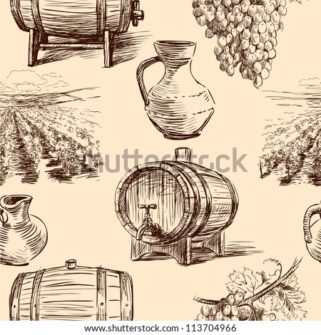 pattern with wine making