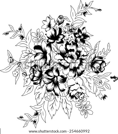 patterned background of a beautiful bouquet.