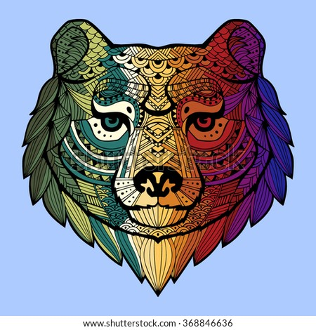 patterned bear's head in the