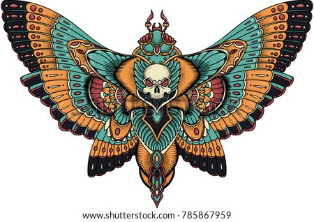 patterned butterfly  ornate