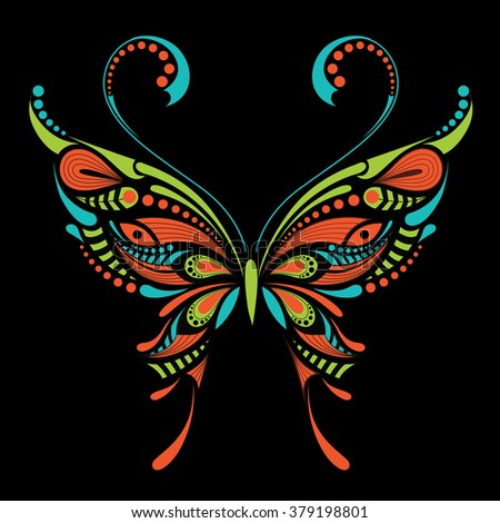 patterned colored butterfly