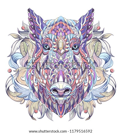 stock-vector-patterned-head-of-boar-pig-swine-symbol-of-tattoo-design-it-may-be-used-for-design-of-a-t