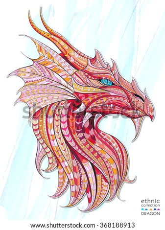 patterned head of the dragon on