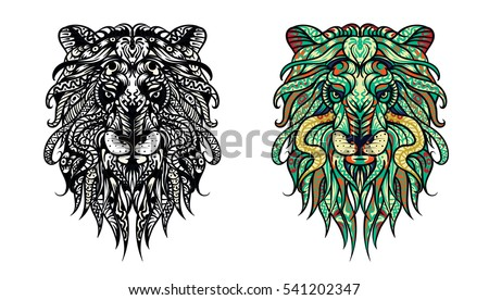 Adult Anti Stress Coloring Page Black White Hand