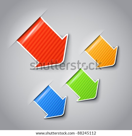 Patterned vector labels with white boarder clip-art. You can place your content on them